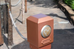 A lonely little Fastpass+ touchpoint waiting to be used